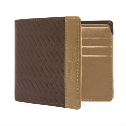 access denied wallet, brown wallet, faux leather bifold, faux leather wallet, mens wallet, non leather bifold, non leather wallet, tan wallet, textured wallet, vegan bifold, vegan wallet