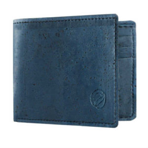 bifold wallet, blue wallet, cork wallet, faux leather wallet, gift wallet, non leather wallet, slim bifold, slim wallet, small wallet, vegan wallet