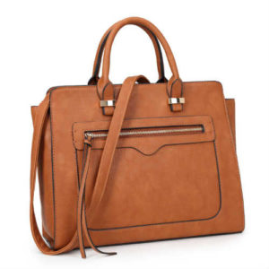 brown handbag, cruelty free handbag, dasein handbag, everyday handbag, faux leather handbag, large handbag, non leather handbag, vegan handbag, vegan satchel