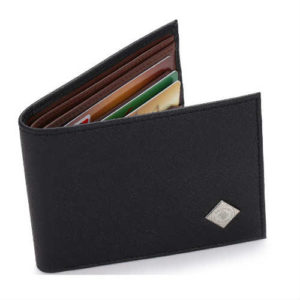 bifold, black wallet, faux leather wallet, gallery seven wallet, non leather wallet, slim wallet, vegan bifold, vegan rfid, vegan wallet