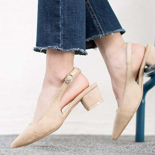 vegan shoes, non-leather shoes, beige shoes, slingback shoes, block heel shoes, suede shoes