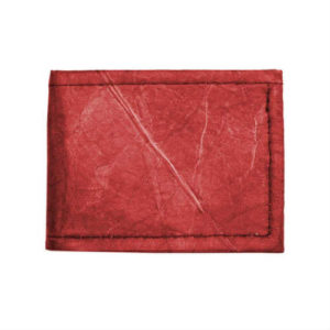 faux leather bifold, faux leather wallet, leaf bifold, leaf wallet, non leather bifold, non leather wallet, red bifold, red wallet, tree tribe bifold, tree tribe wallets, vegan bifold, vegan wallets