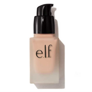 elf foundation, vegan foundation, cruelty free foundation, spf foundation, semi matt finish foundation, small bottle, liquid foundation