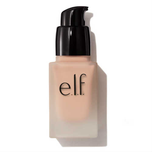elf foundation, vegan foundation, cruelty free foundation, spf foundation, semi matt finish foundation, small bottle, liquid foundation
