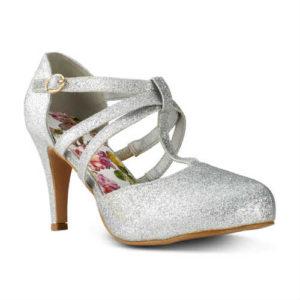silver shoes, vegan shoes, cruelty-free shoes, maryjane shoes, glitter shoes, heel shoes, t bar shoes, women shoes