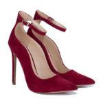 vegan shoes, wine shoes, pumps, stiletto shoes, high heel shoes, ankle strap shoes
