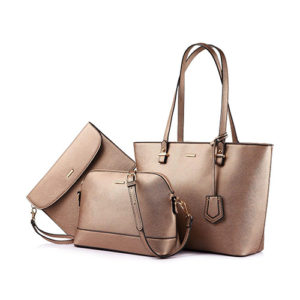 lovevook-3-pc-vegan-set-of-handbags-bronze-gold