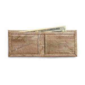 tree tribe wallet, leaves wallet, vegan wallet, mens wallet, non leather wallet, eco friendly wallet, cruelty free wallet